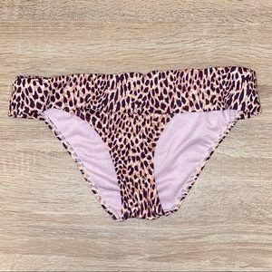 Victoria's Secret Foldover Bikini Bottom Leopard S